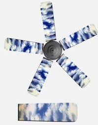 fancy blade home decor ceiling fan blade cover blue sky clouds