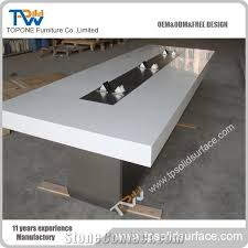 Modern Meeting Table Factory Acrylic Solid Surface New Design Modern Conference