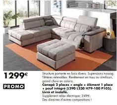 lambermont canapé meubles lambermont promotion canapé 2 places angle élément 1