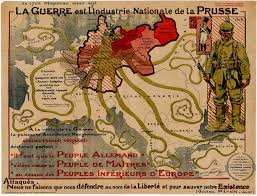 Alsace Lorraine Map Propaganda Map Attacking Prussia In First World War