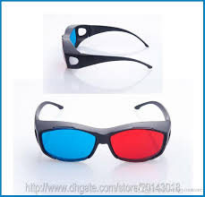universal 3d plastic glasses oculos blue cyan 3d glass