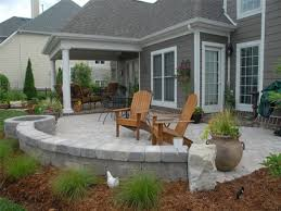 Backyard Pavers Small Backyard Paver Patio Ideas Designs Pavers With Fire Pit L