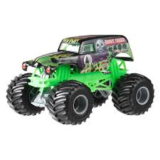 monster jam new trucks wheels monster jam 1 24 grave digger die cast vehicle