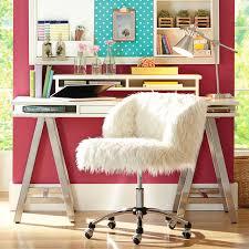 Teenage Desk Chair Ivory Furlicious Wingback Desk Chair Pbteen