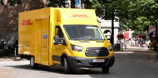 electric company truck ford unveils its new electric truck made with dhl electrek