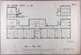 design for glasgow school of art plan of first floor gsa archives download low resolution image