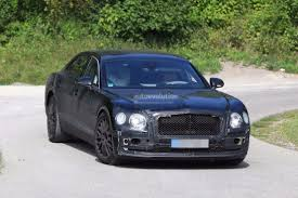 2019 bentley flying spur spied testing with a headless dummy as