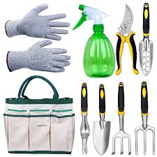 amazon com lanbozita garden tools 9 piece gardening tools set