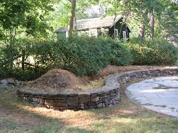 Curved Garden Wall by Curved Stone Wall Alan K Shea Mason Contractor