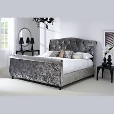Gray Tufted Headboard Bedroom Mesmerizing Grey Velvet Tufted Headboard Gray Wingback