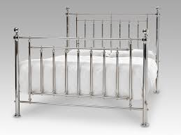 solomon super king size nickel metal bed frame