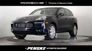 porsche suv white 2017 used porsche cayenne at porsche of stevens creek serving santa
