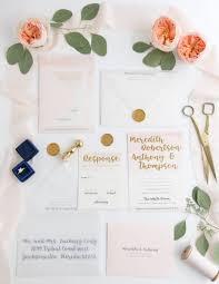 wedding invitations and gold gold foil watercolor wedding invitation o brien design