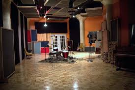 live studio recording room at bad racket studios in cleveland