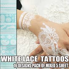 amazon com bluezoo henna body paints tattoos stickers whitelace
