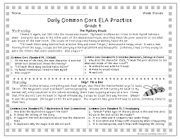 best ideas of common core reading worksheets 4th grade for your