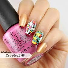 liquid jelly nail art moyou london tropical 05 nail stamp