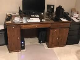 Unfinished Desk Desk Makeover In A Modern True Black Painted Finish