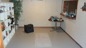 painting concrete basement floor ideas for small and narrow