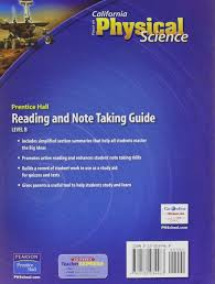 focus on physical science california edition reading and note