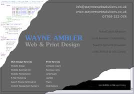 Business Cards Leeds Business Promotional Materials Waynes Web Solutions