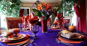 colors for thanksgiving carnival of color tablescape life and linda