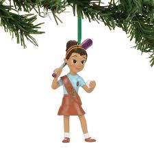 Softball Christmas Ornament - john robert collectibles scouts brownie playing softball