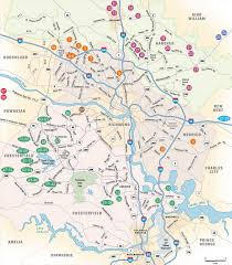 Richmond Virginia Map by Map Of Richmond Va