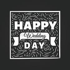 happy wedding day happy wedding day card on blackboard vector image 1710080