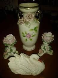 Lenox Vase With Rose Vintage Lenox Porcelain Jam Jar Blue Mark W Lunt Sterling Silver