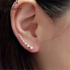 ear climber earring aliexpress buy rainbery bar shape ear climbers in