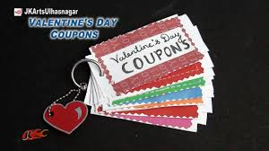 Homemade Valentine S Day Gifts For Him by Diy Love Coupon Book Valentine U0027s Day Gift Idea Jk Arts 857