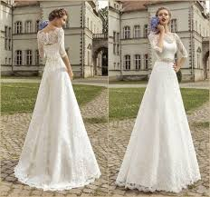 cheap sleeve wedding dresses amzing bateau half sleeve wedding dresses 2015 illusion sweep