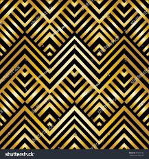 Art Deco Style Abstract Geometric Pattern Artdeco Style Vector Stock Vector