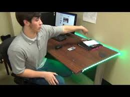 Under Desk Lighting Led Strip Projects Office Desks At Hitlights Youtube