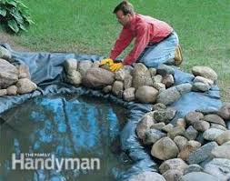 how to build a water garden with waterfall family handyman