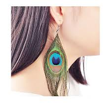 feather earrings online buy zabardast peacock feather earrings online at best price in
