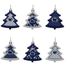 state nittany lions six pack shatterproof tree ornament set