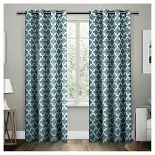 turquoise curtains target