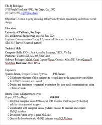 Engineering Intern Resume Internship Resumes Creative Graphic Designer Resume Samples For