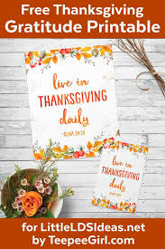 free thanksgiving gratitude printable poster lds ideas