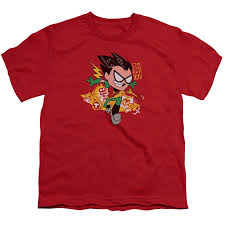 teen titans robin youth tshirt superheroden