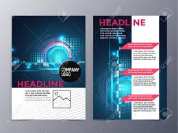 brochure 4 fold template business and technology brochure design template vector tri fold