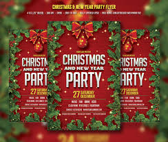 christmas u0026 new year party flyer templates creative market