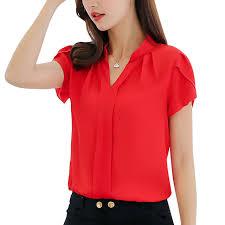 s blouse 2018 plus size office sleeve chiffon blouse summer ol