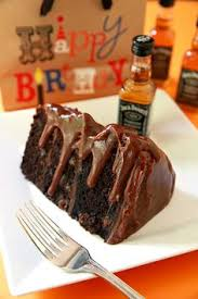 homemade mocha chocolate cake with peanut butter frosting and