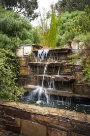outdoor waterfall fountain in the garden different types of pond