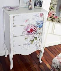 White Painted Furniture Shabby Chic by Best 25 Lace Painted Furniture Ideas On Pinterest Lace Painting