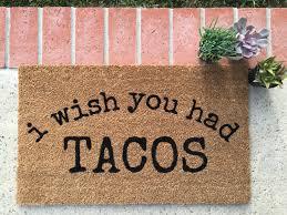 tacos pizza food doormat hand painted outdoor welcome mat