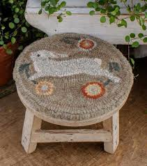 287 best hooked foot stools images on pinterest foot stools rug